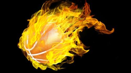 Free stock photo of basketball, basketball on fire, basketball wallpaper