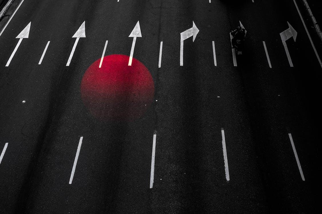 asfalt, autostrada, ciemny