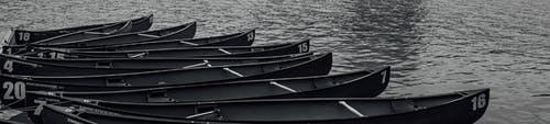 Free stock photo of canoes