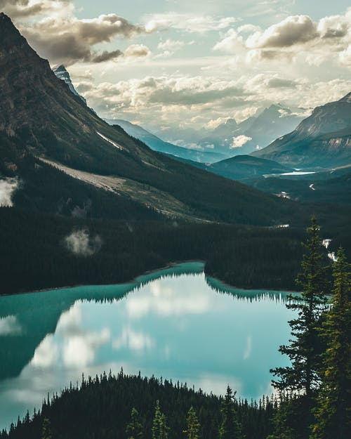 Lake Surrounded With Mountains
