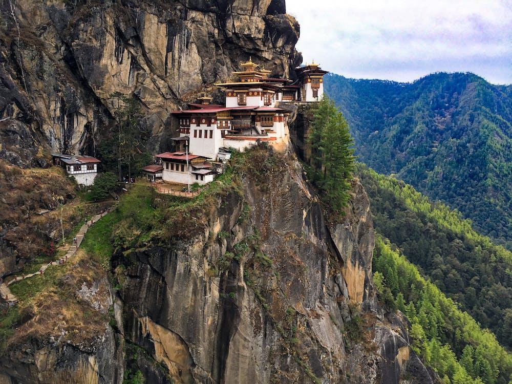 architektura, denní světlo, hory