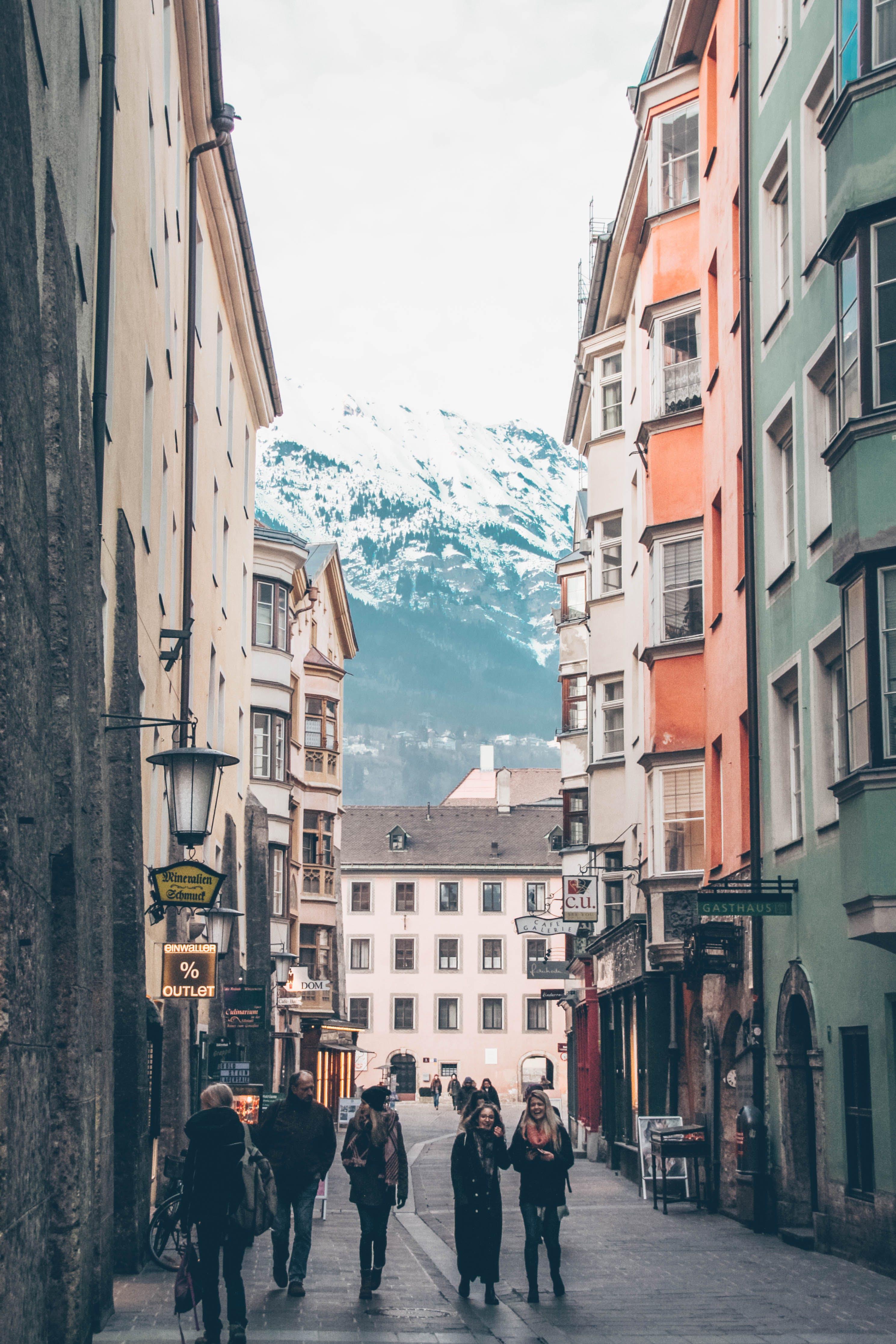 Free stock photo of snow, mountains, street, alley