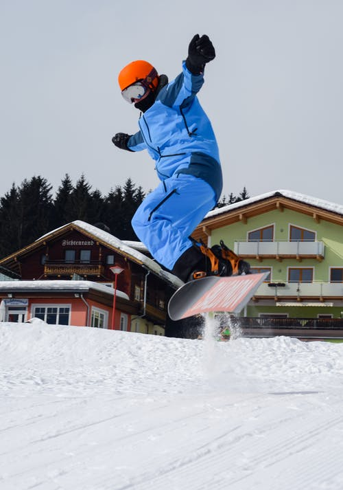 Person Doing Snowboarding