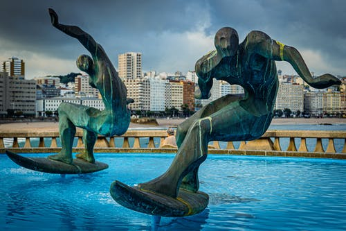 Free stock photo of statue, surf