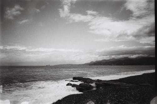 Immagine gratuita di acqua, alba, bianco e nero