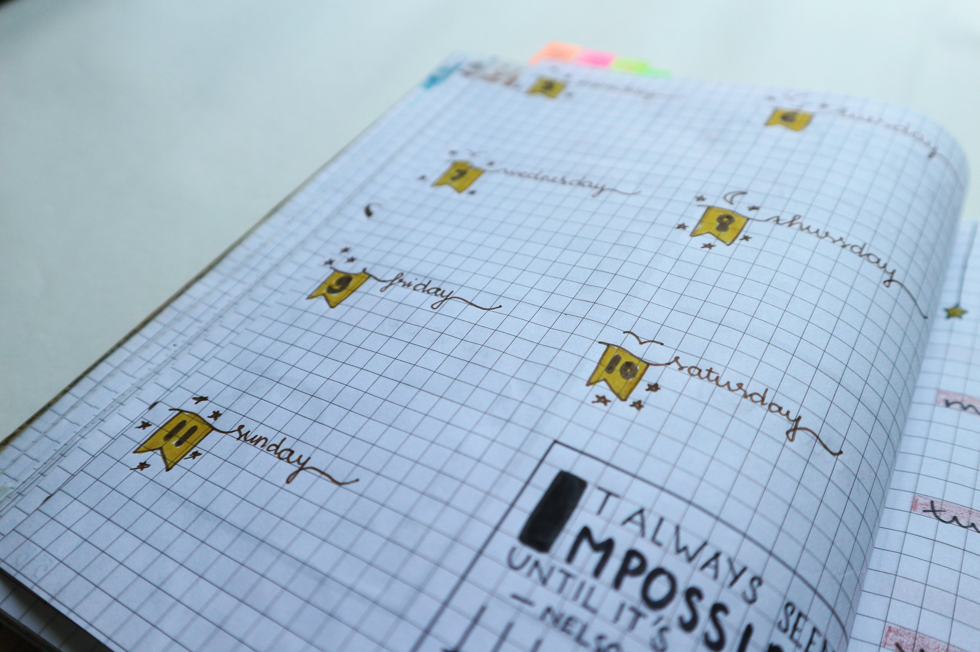 Notebook Page With Illustration