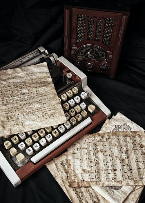 Music Sheet on Typewriter