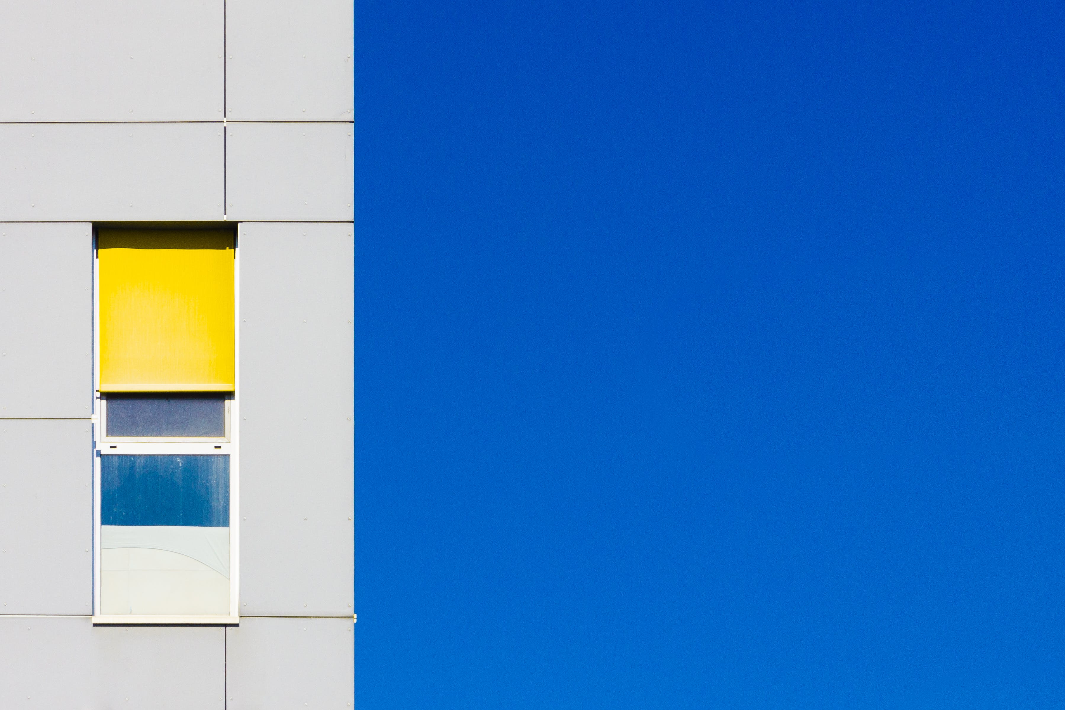 Free stock photo of art, blue, yellow, lines