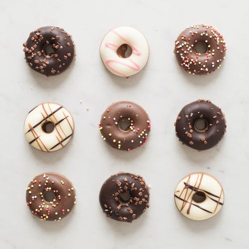 Free stock photo of candy, chocolate, donuts