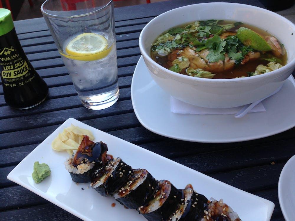 Asiatisk, lunsj, mat