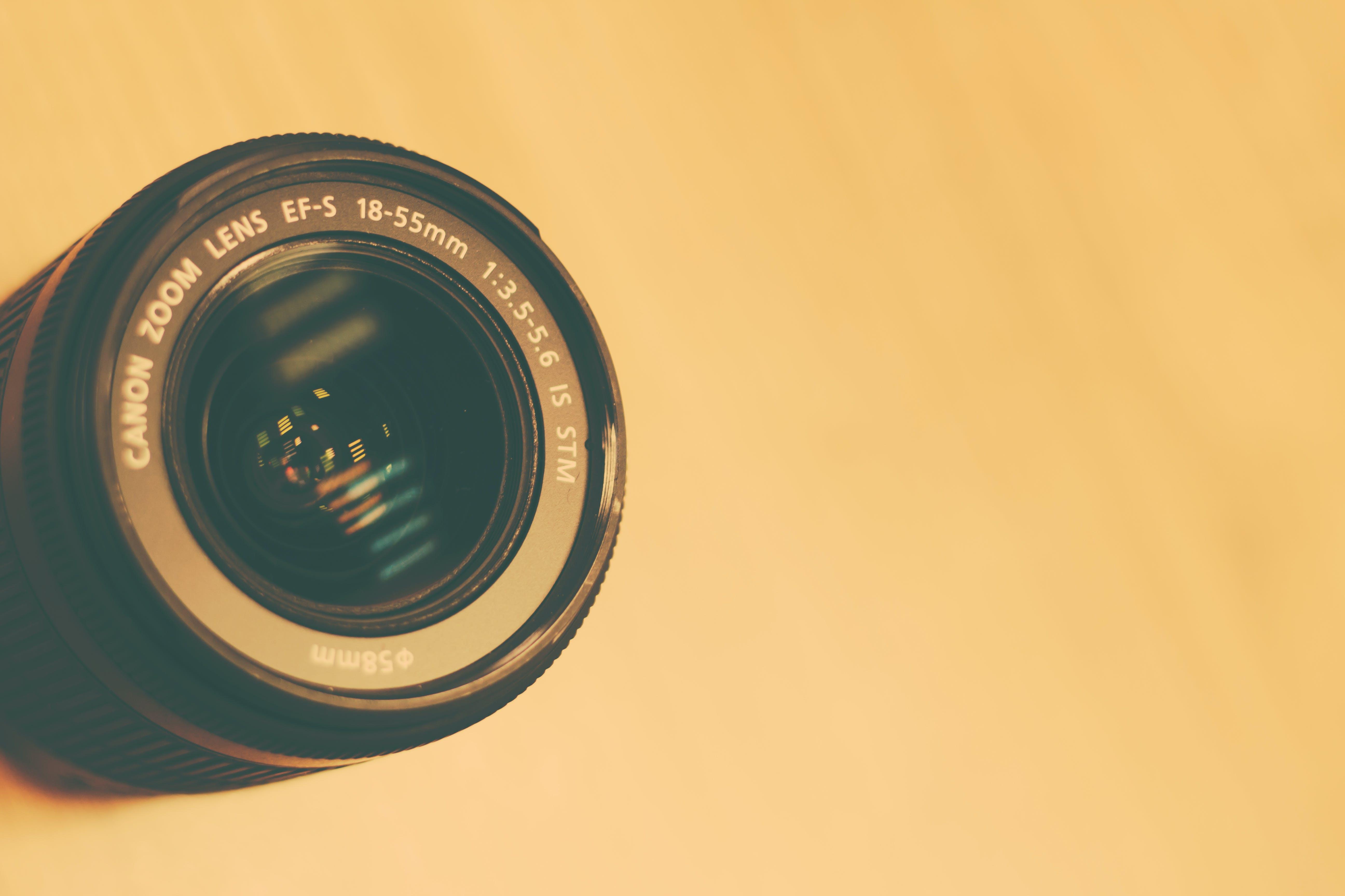 18-55mm Black Canon Camera Lens