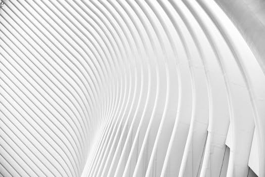 Free stock photo of curve, pattern, abstract, white
