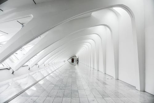 Long Exposure Photography White Dome Building Interior