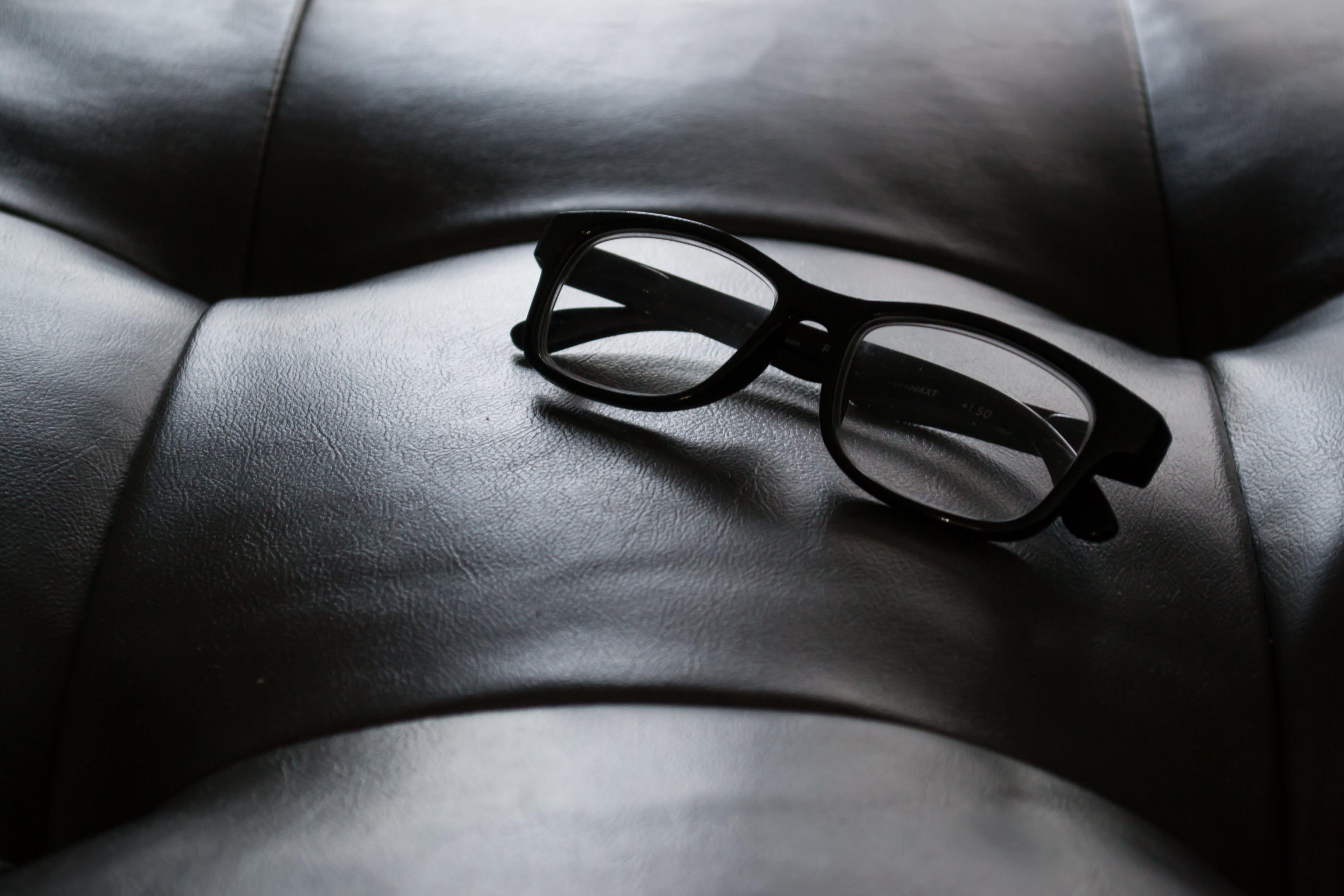 Close-Up Photography of Black Frame Eyeglasses