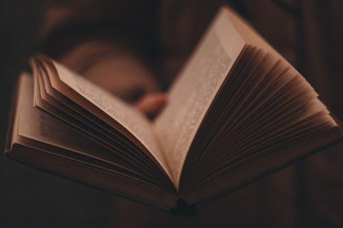 A Close-up Shot on an Open Book