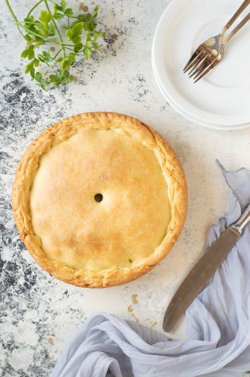 Close-Up Shot of a Pie