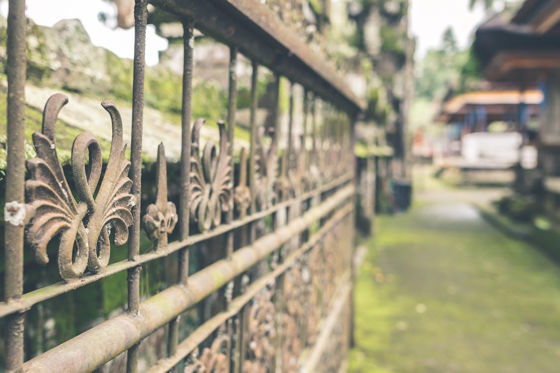Brown Metal Fence