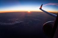 flight, sky, sunset