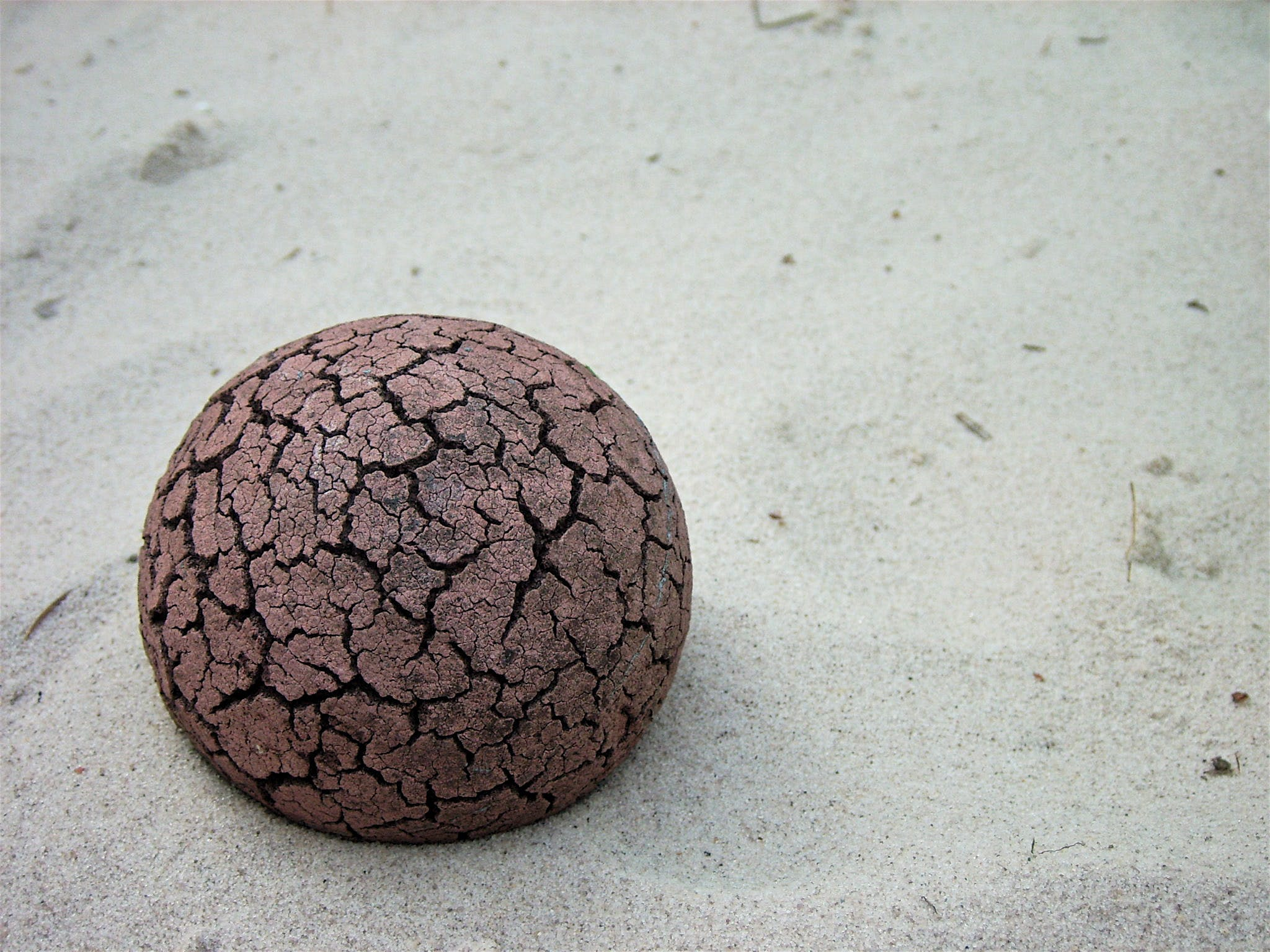 Free stock photo of cracked ball, sand