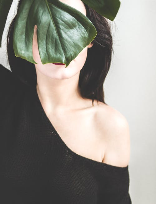 Woman Wearing Black One-shoulder Shirt