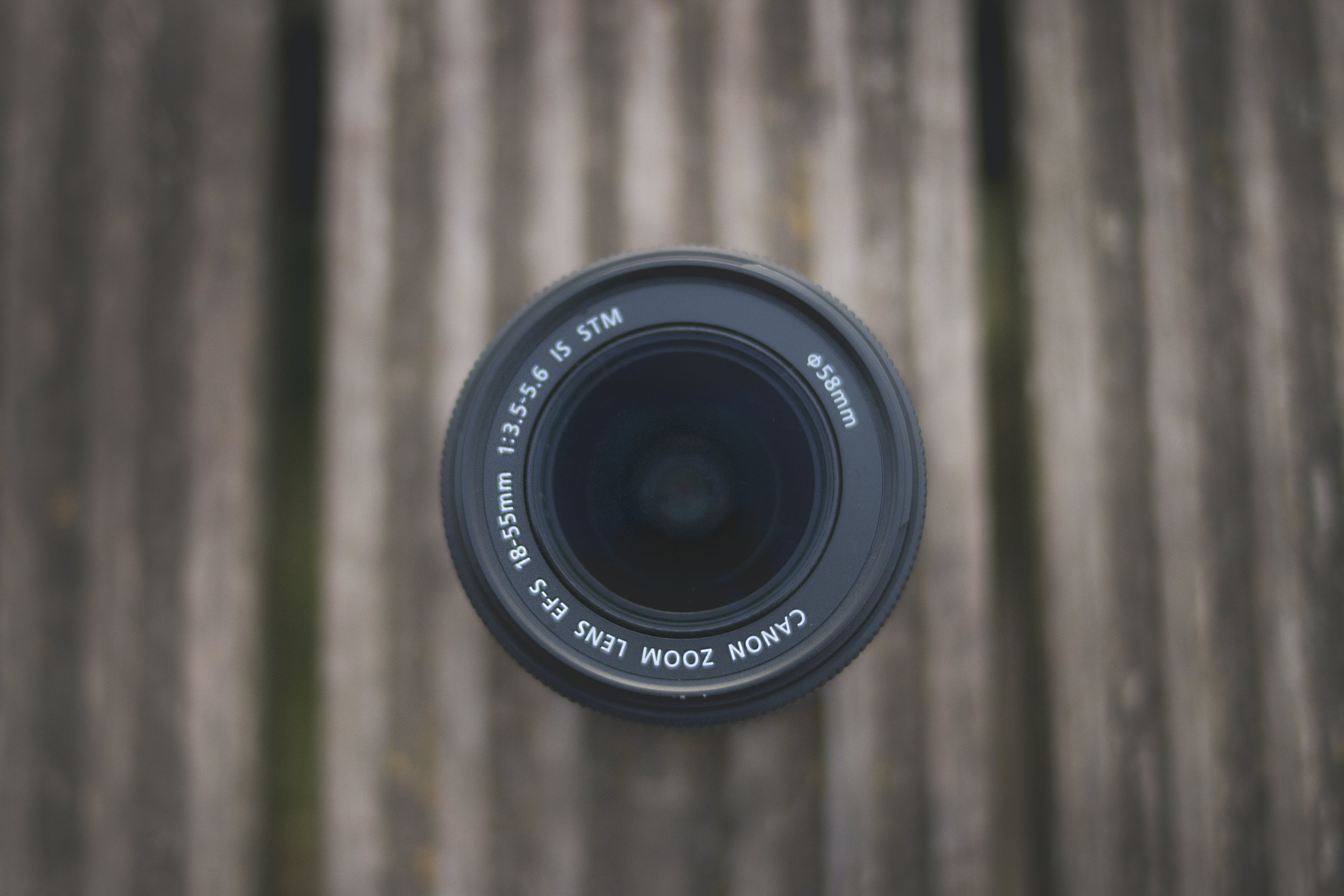 Top-view Photography of Canon Dslr Camera Lens