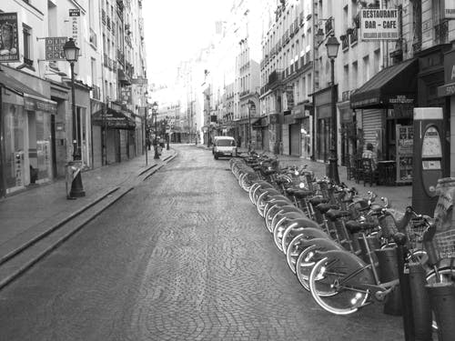 Free stock photo of Paris France Bicycles