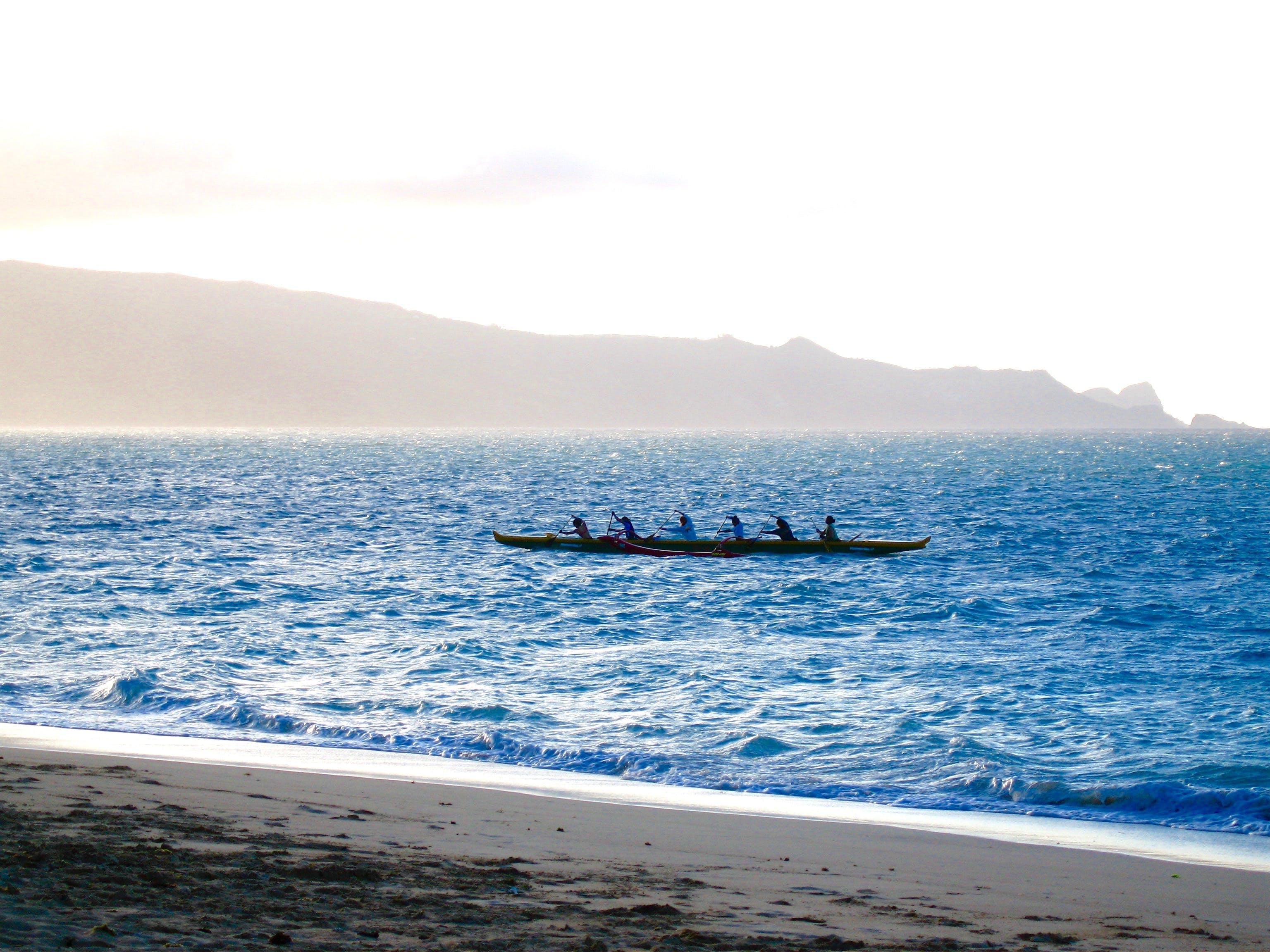 Free stock photo of outrigger canoe beach ocean