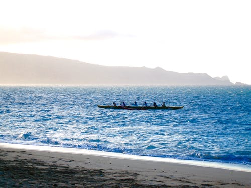 Free stock photo of outrigger canoe beach ocean