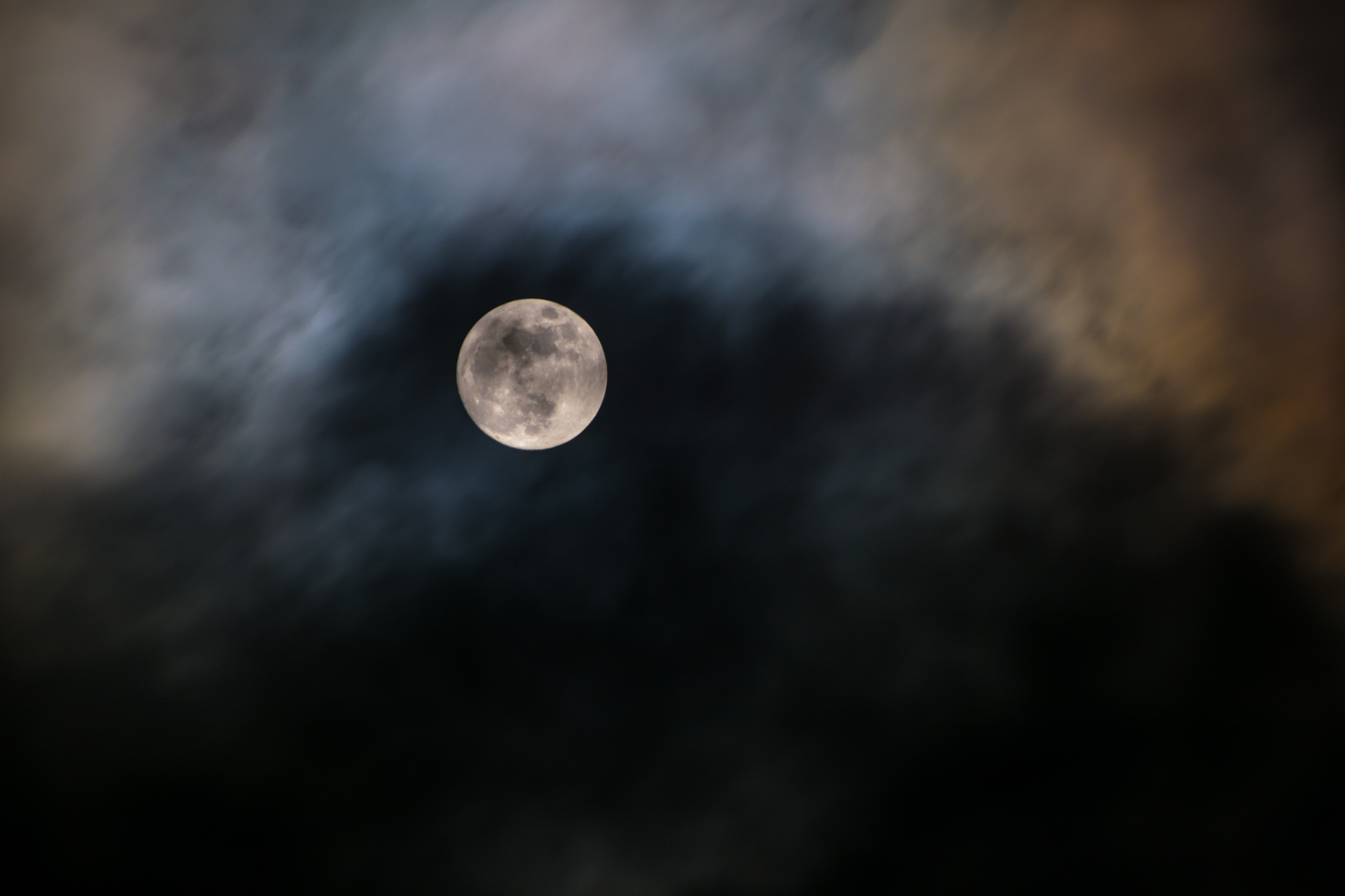 Free stock photo of clouds, full moon, light