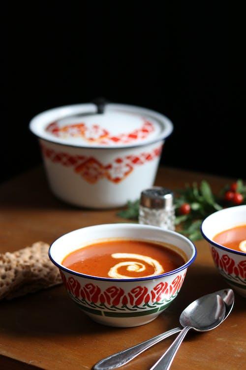 Ceramic Bowl With Tomato Soup
