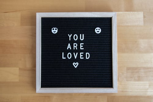 Letter Board on a Wooden Surface