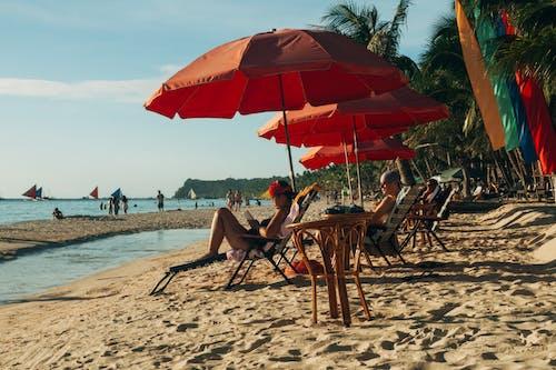 Free stock photo of beach, boracay, chair