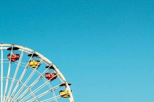 Darmowe zdjęcie z galerii z błękitne niebo, diabelski młyn, dzień, jazda
