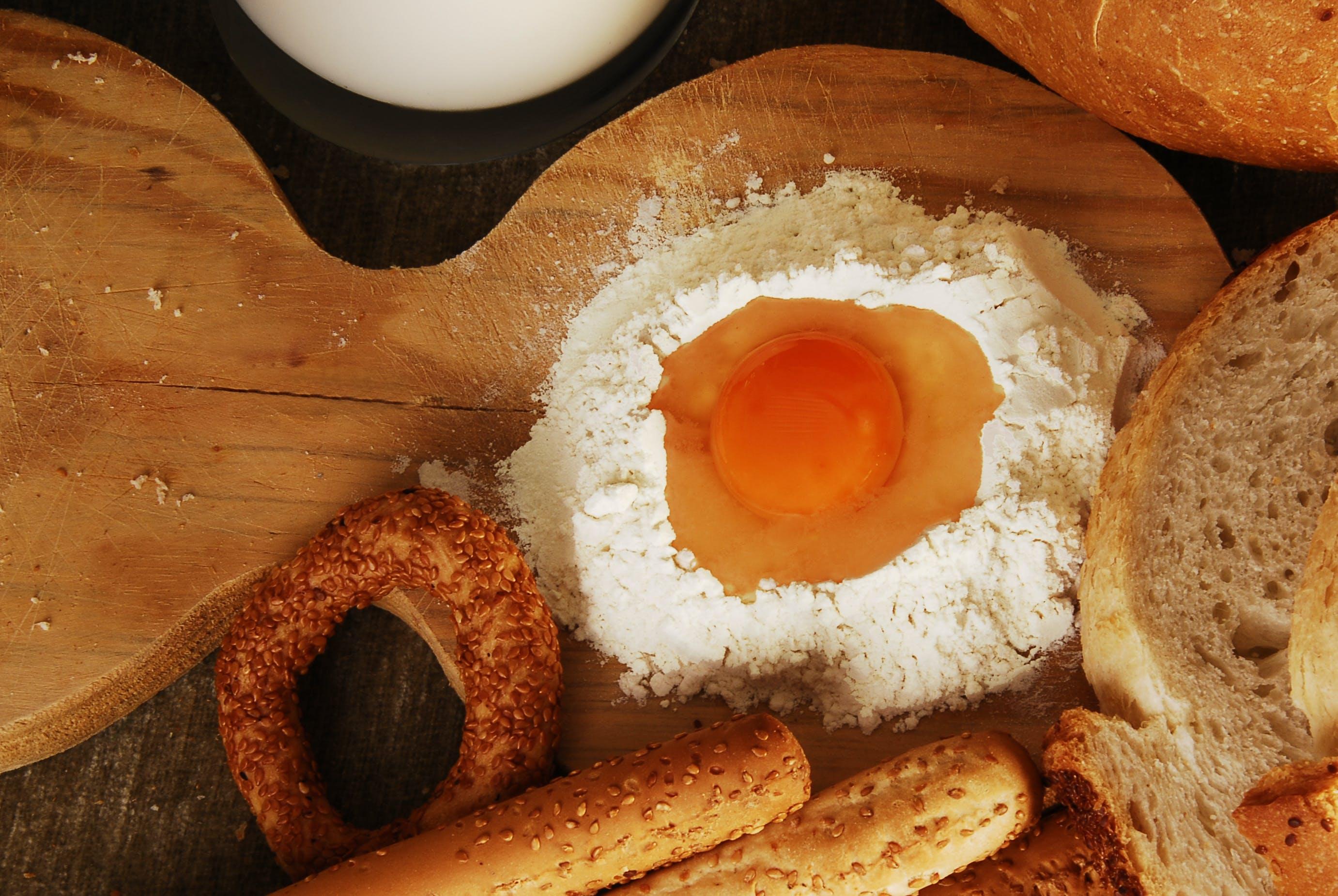 Egg on White Flour