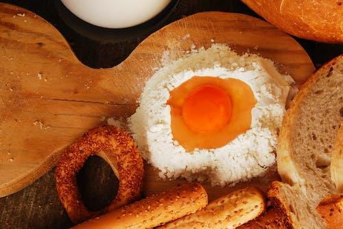 烘焙, 蛋, 蛋黃, 麵包 的 免费素材照片