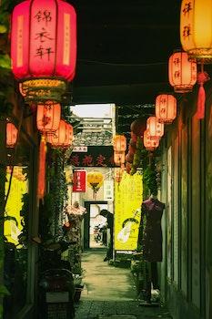 Free stock photo of 夜景, 灯光, 街拍, 灯笼