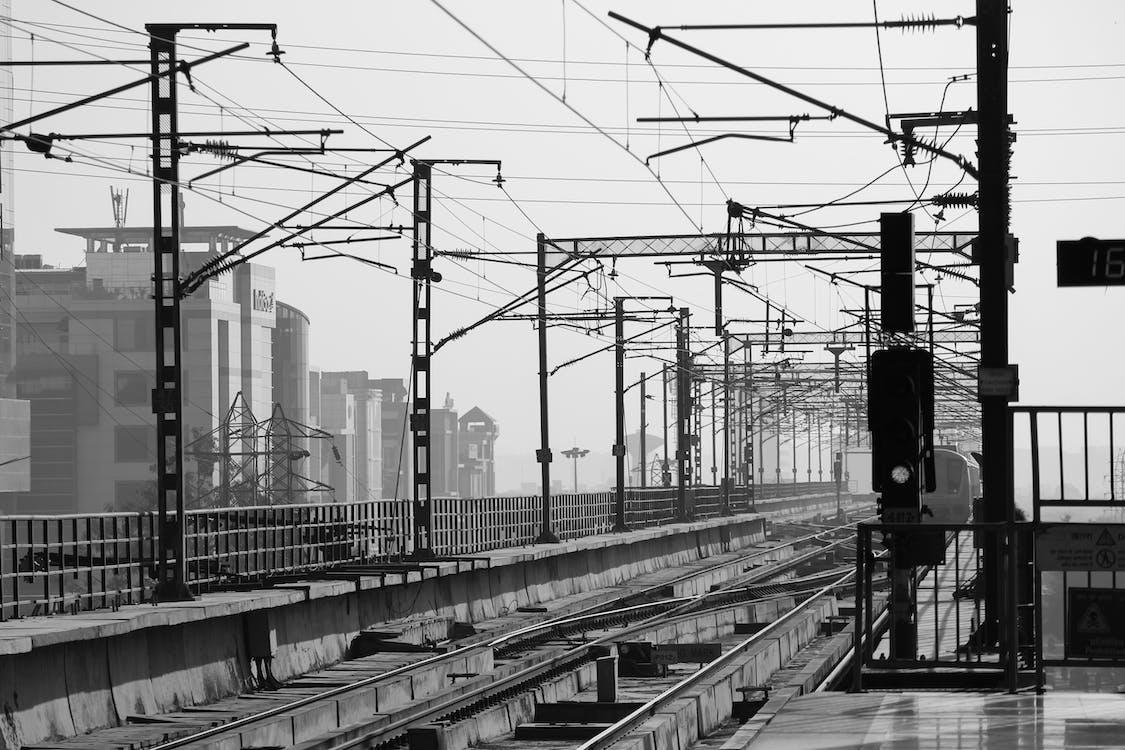 çelik, çizgi, demir yolu