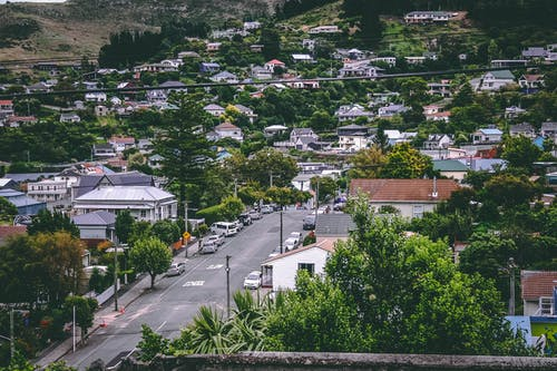 Darmowe zdjęcie z galerii z domy, droga, dzielnica, miejski