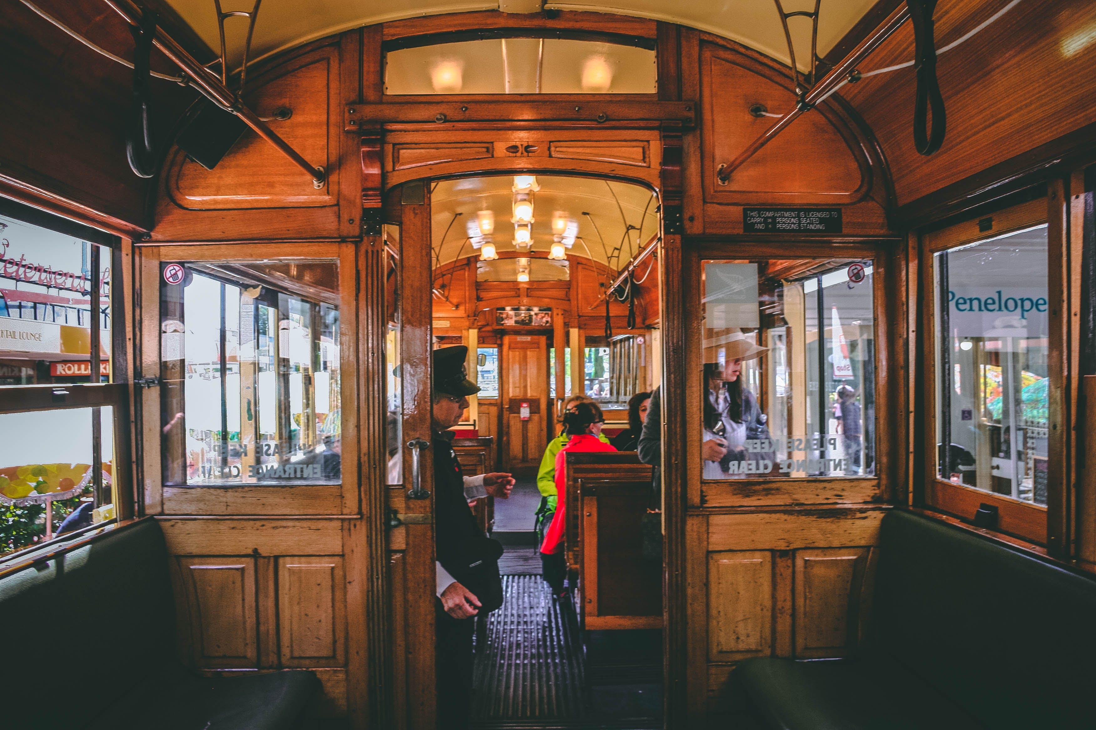 People Ride Train