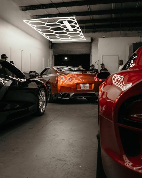 Red and Black Ferrari Sports Car
