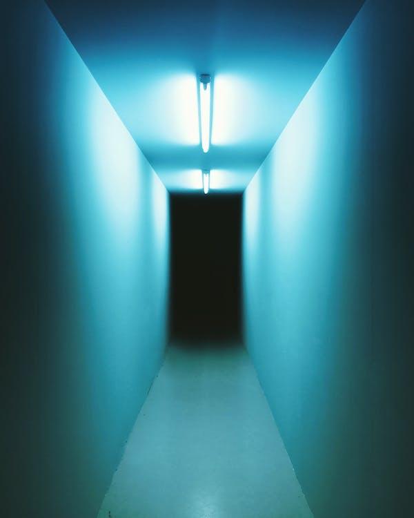 colori, corridoio, luci