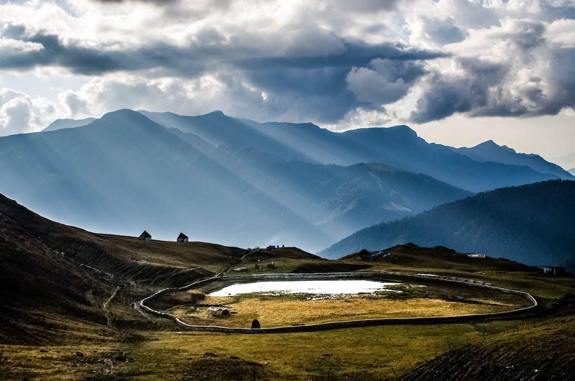 dramatický, hory, idylický