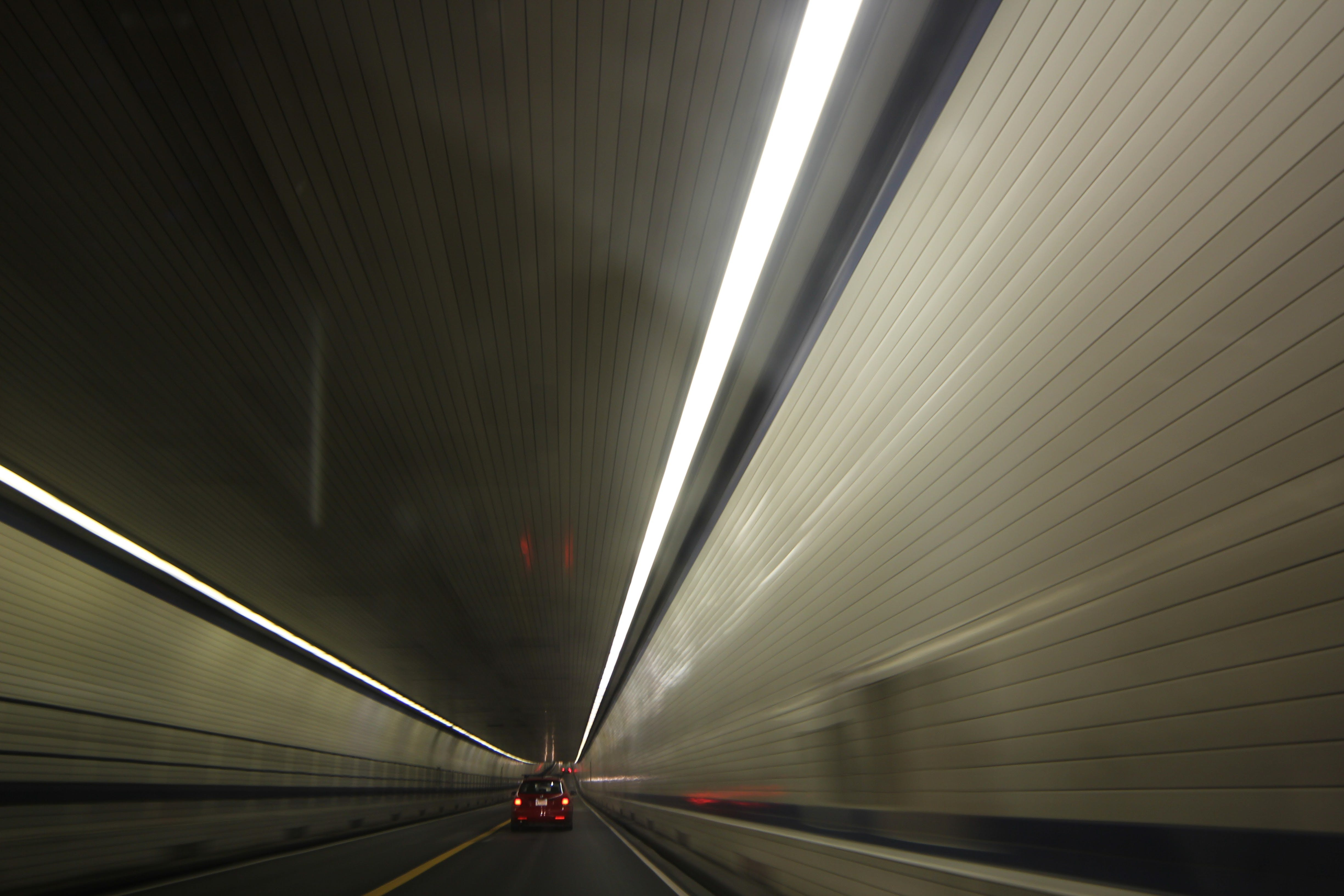 Free stock photo of blurred lines, driving, fast, tunnel