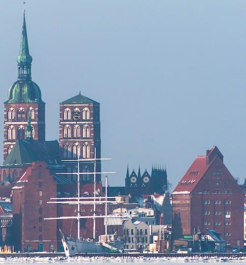 교회, 물, 파노라마, 파노라마보기의 무료 스톡 사진
