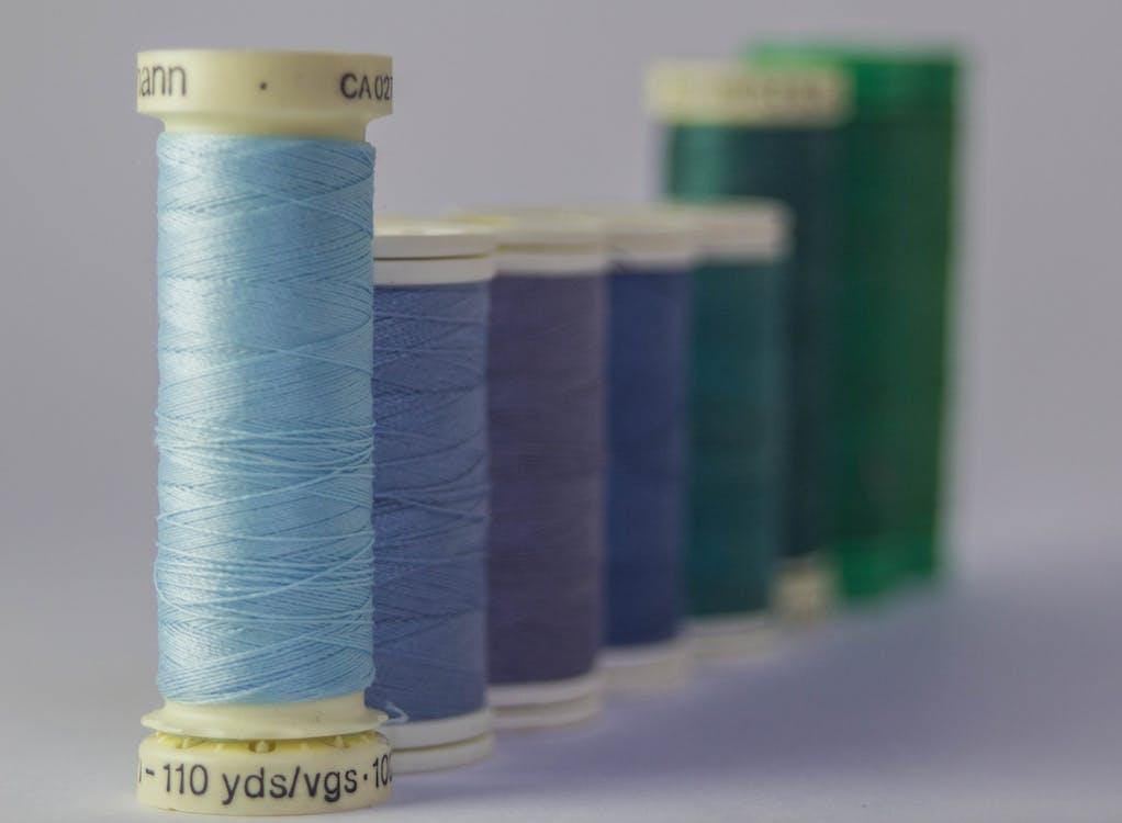 bleu, bobine, couleurs