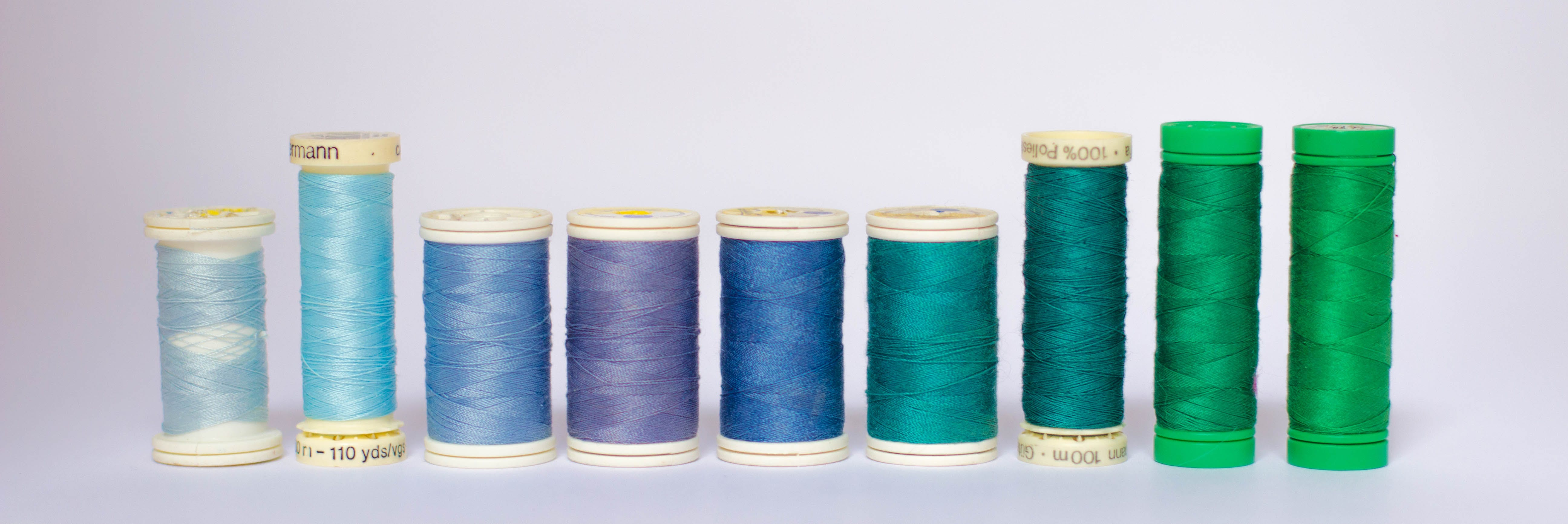 Shades of Blue Thread Spools