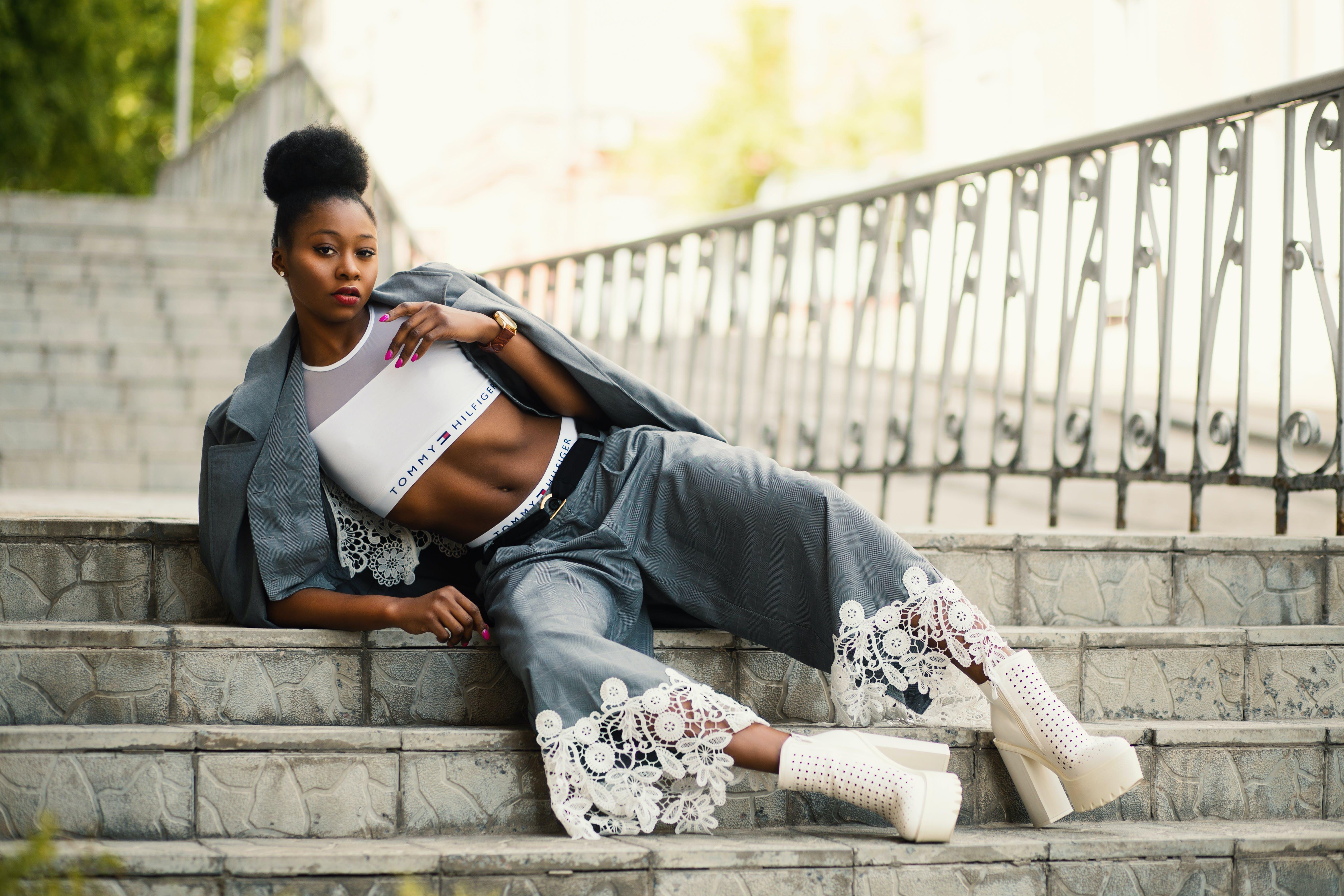 Kostnadsfri bild av afrikansk amerikan kvinna, elegant, flicka, fotografering