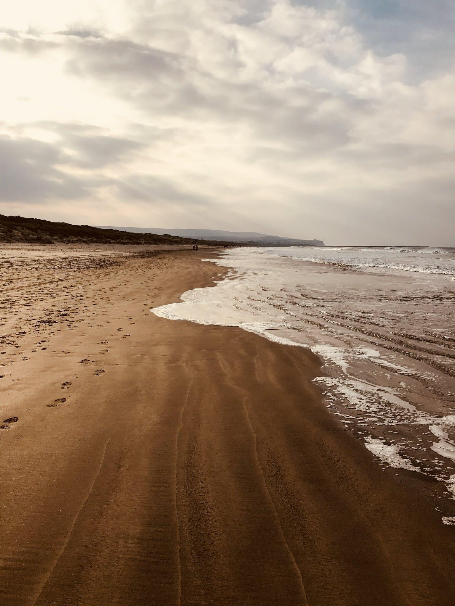 Empty Brown Sand Seashore