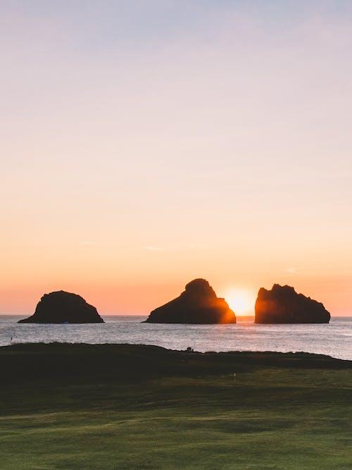 Foto d'estoc gratuïta de aigua, capvespre, cel, Costa