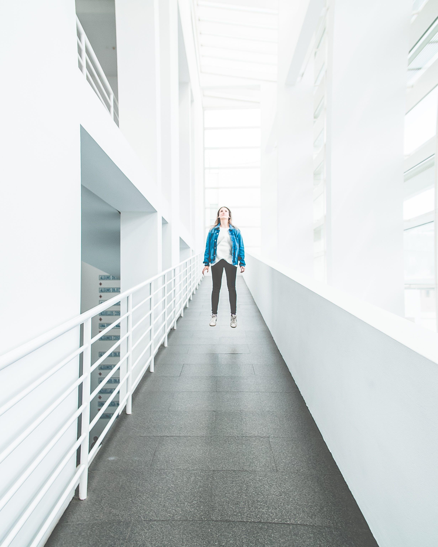 Woman in Blue Jacket
